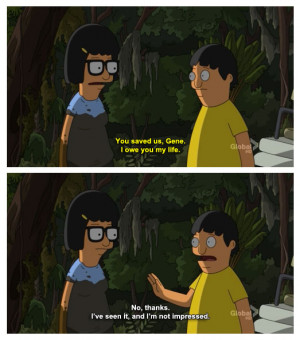Tina Owns Gene Has Life After he Saved Her On Bob's Burgers