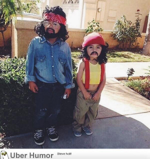 My friend's daughters last Halloween as Cheech and Chong