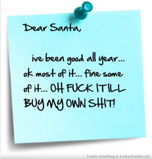 ... cute, dear santa, life, love, presents, pretty, quote, quotes, santa