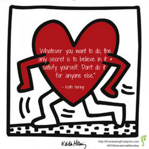 Motivational Monday: Keith Haring Quote About Happiness