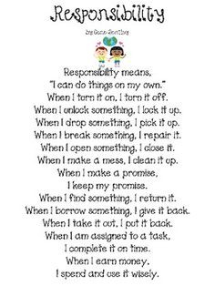 Essay on being responsible