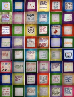 Patchwork Quilt Project about reading quotes by captaincupid87