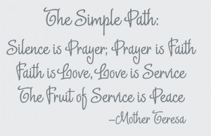 Catalog > Mother Teresa, The Simple Path, Celebrity Wall Art Decal ...