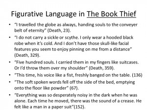Figurative Language in The Book Thief I travelled the globe as always ...