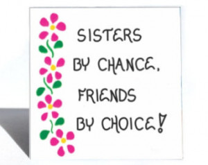 Magnet - Sister Quote - Friend, fri endship, Sibling, Family, Pink ...