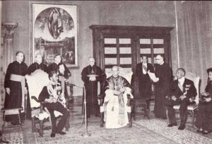 In a meeting with Pope Paul VI at the Vatican