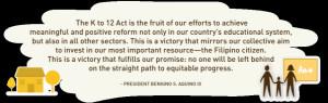 The K To 12 Basic Education Program Official Gazette Of