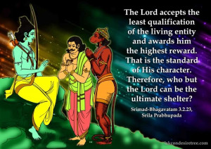 The Lord Accepts The Least Qualification Of The Living Entity And ...
