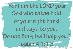 ... month of october i will be sharing bible verses with the theme of fear