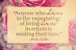 Romantic quotes, sayings, love, paulo coelho