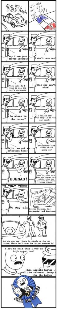 funny police speeding ticket comic