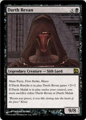 Darth Revan's avatar, to Darth Bane