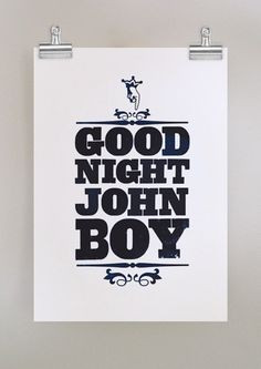 ... goodnight #funny #humorous #poster #print #wall hanging #design #black