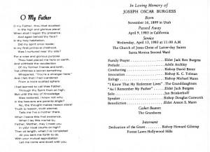 Funeral Program Samples