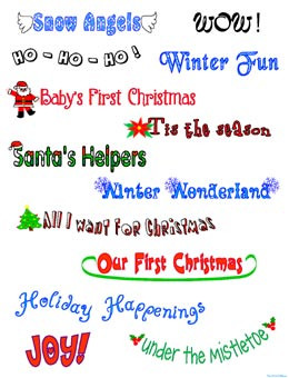Holiday Christmas Saying Clip Art