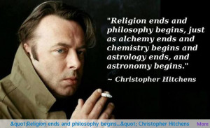 Religion ends and philosophy begins…