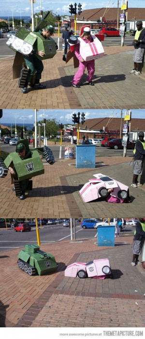 funny transformers costumes real life cars