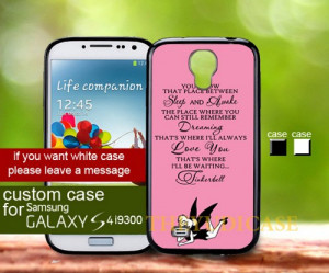 Tinkerbell quotes - Samsung Galaxy S4 case