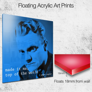 james cagney quote square wall art
