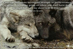 Wolf quote--please help save wolves from the people who think it's ok ...