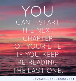 ... the next chapter in your life if you can t start the next chapter