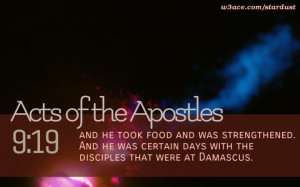 Bible Quote Acts of the Apostles 9:19 Inspirational Hubble Space ...