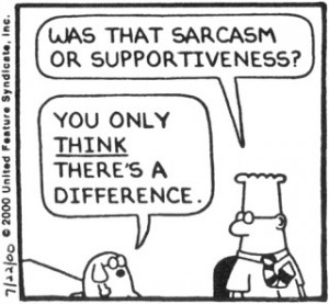 Sarcasm is good - well, most of the time :)