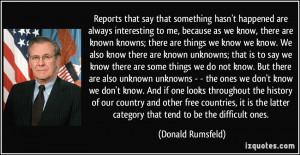 More Donald Rumsfeld Quotes