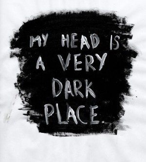 dark, depression, head, text