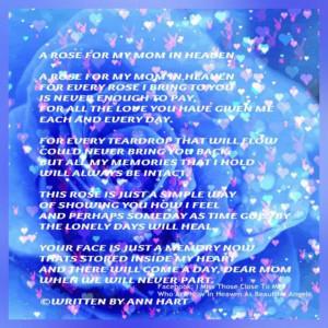 mom in heaven poems