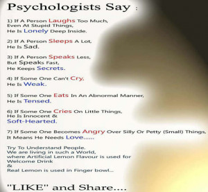 lesson in Psychology;Psychologists says about love,anger,fear,sad ...