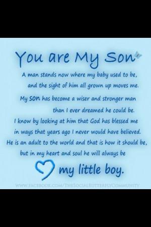 son Eric- Happy 18th Birthday: Birthday Quotes Sons, Boys Mi, Quotes ...