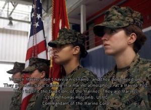 Female marines...