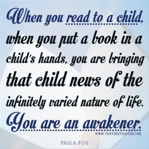 Inspirational reading quotes reading to a child quotes early childhood ...