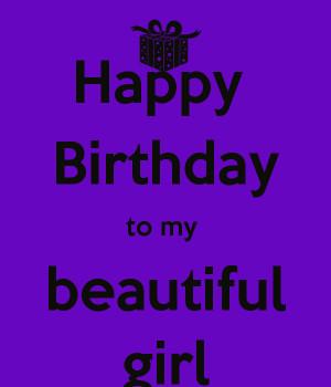 Happy Birthday To My beautiful