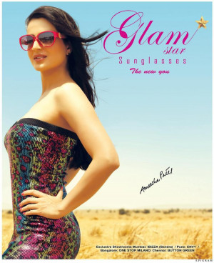 Thread: Amisha Patel - Glamstar sunglasses ad shoot pictures [ALL]