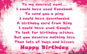 Aunt Birthday Quotes To look for birthday wishes