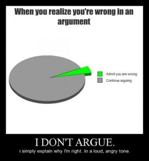 Don't Argue…
