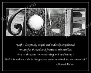 GOLF Photo Alphabet Print with Arnold Palmer Quote - 8x10