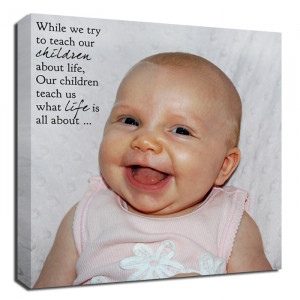 ... New Mom, Mother child canvas with poem baby child picture canvas quote
