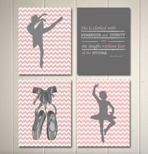 Baby girl nursery art, ballerina nursery, inspirational nursery quotes ...