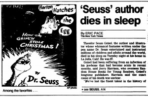 ... -evening-times-newspaper-0926-1991-theodor-geisel-dr.-seuss-obituary