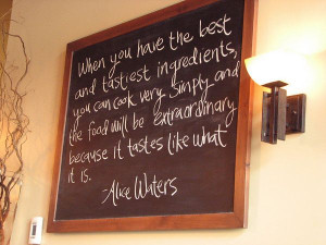 like the idea of doing this in the kitchen, changing the quotes...