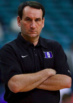 Stare into the cold, dead, soulless eyes of Coach Mike Krzyzewski.