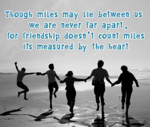 Friendship long distance quotes and sayings famous