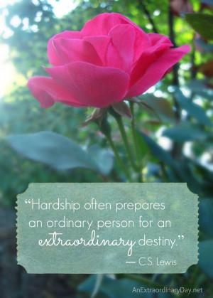 ... extraordinary destiny