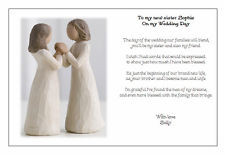 Special Sister In Law Poems Personalised wedding day poem