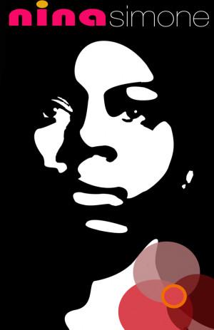 Nina Simone illustrated art poster.