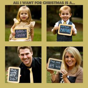 Pregnancy Announcement! Third Baby Announcement. Christmas Pregnancy ...