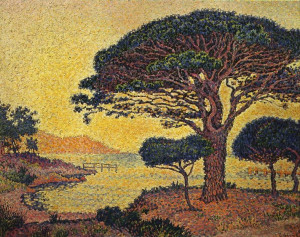 paul signac le pin parasol aux canoubiers description paul signac